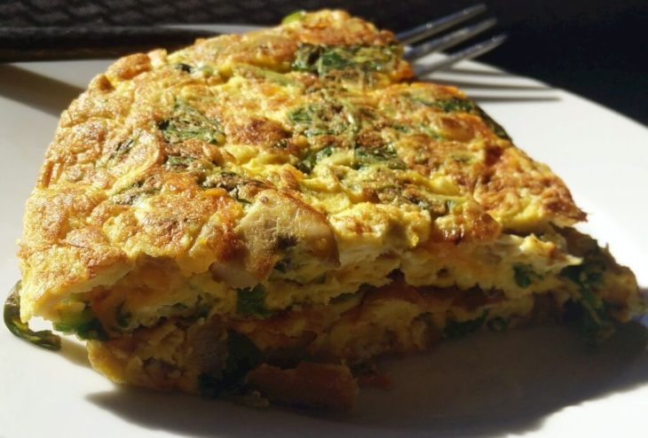 dereotlu maydonozlu omlet