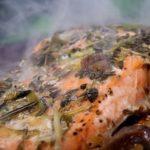 Fırında Havuçlu Mantarlı Somon Balığı Tarifi